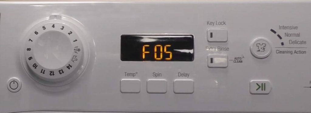 Ошибка F05